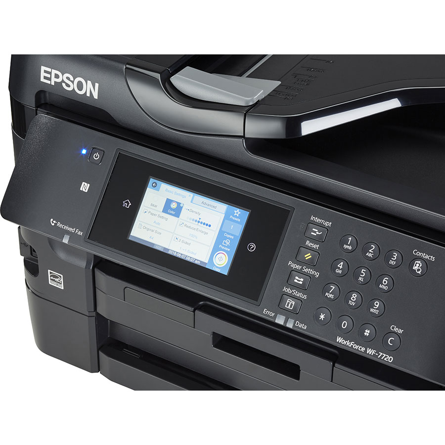 Epson Workforce WF-7720DTWF - Bandeau de commandes