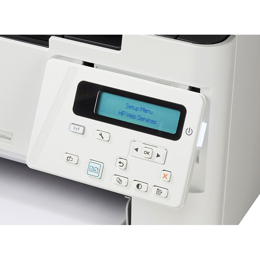 HP Laserjet Pro M26nw - Bandeau de commandes