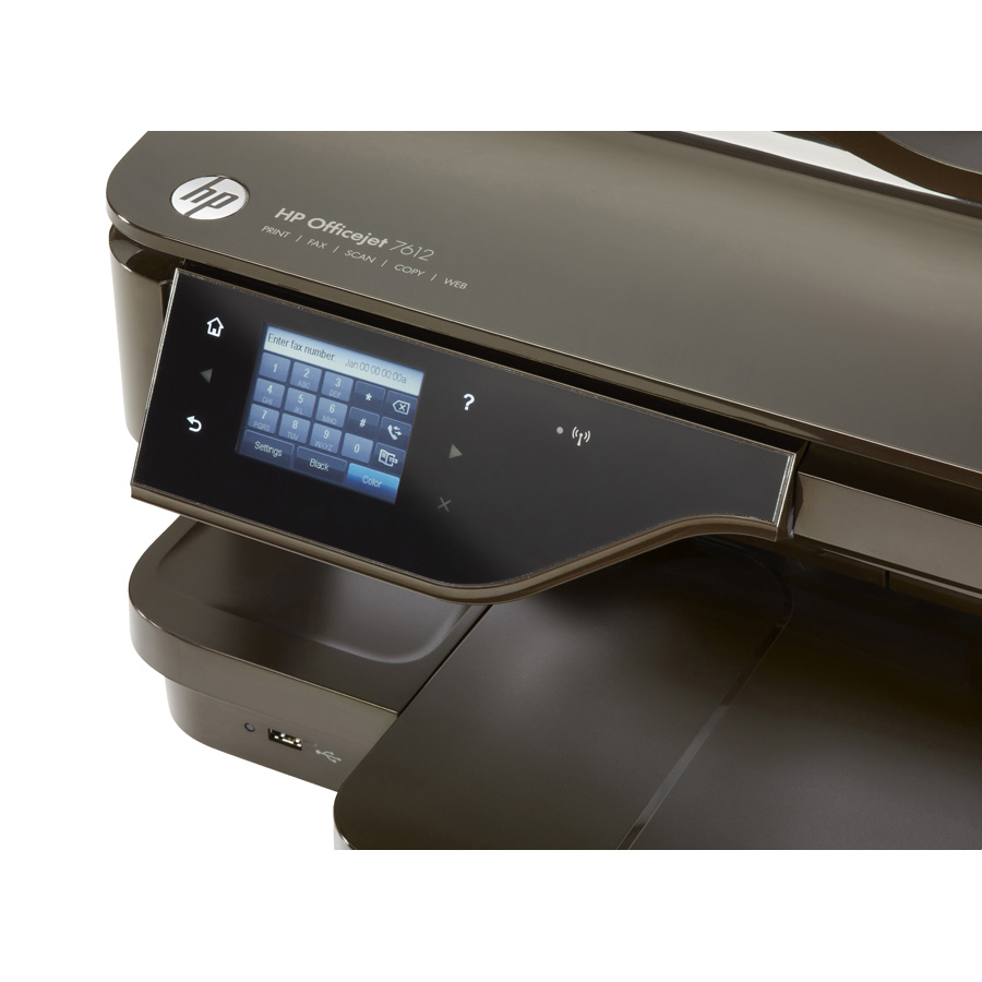 HP Officejet 7612 - Bandeau de commandes