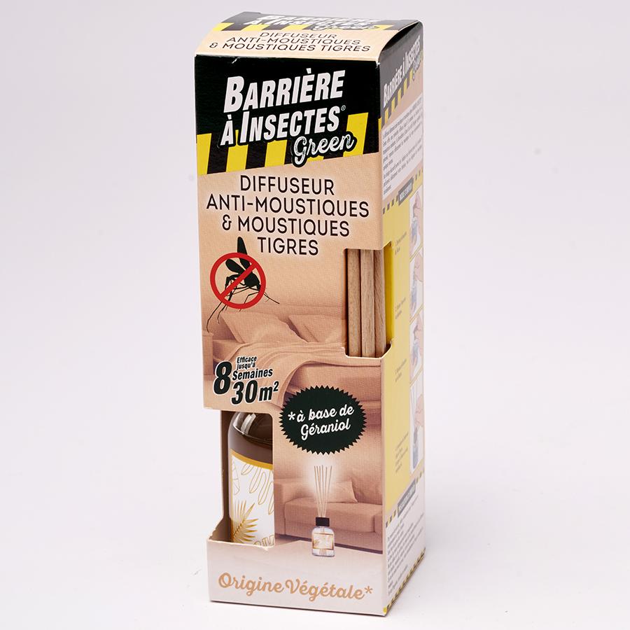 Barrière à insectes Green Diffuseur anti-moustiques & moustiques tigres (bâtonnets) -