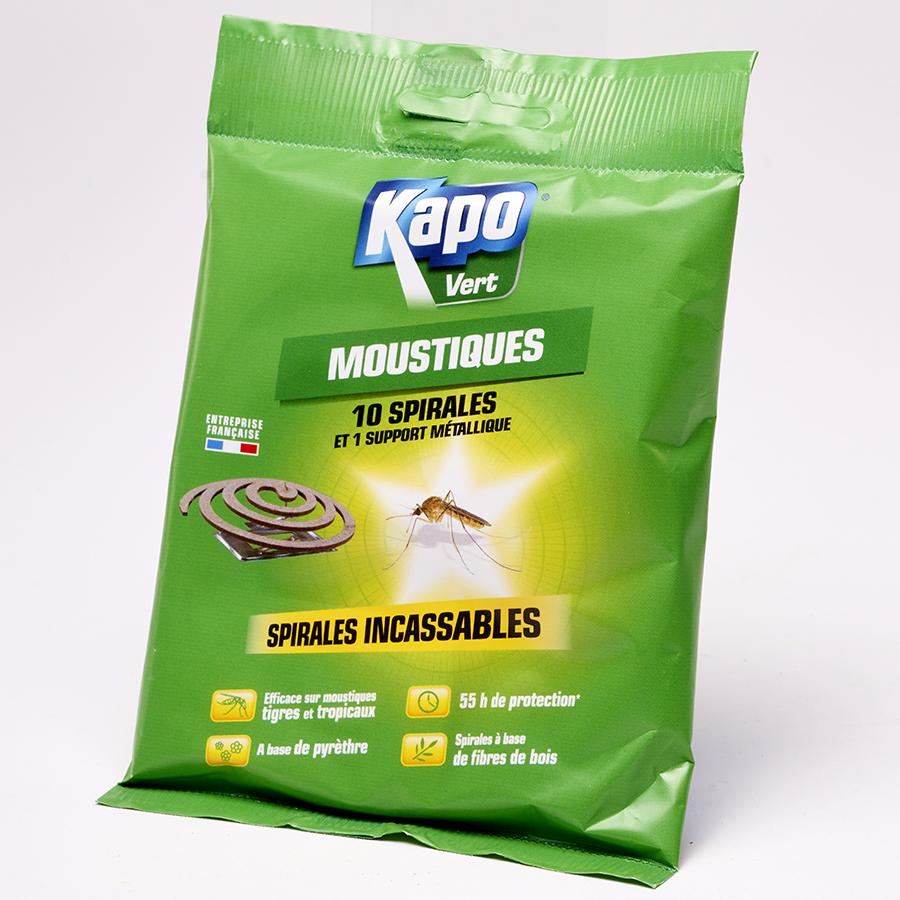 Kapo Vert Moustiques spirales incassables -