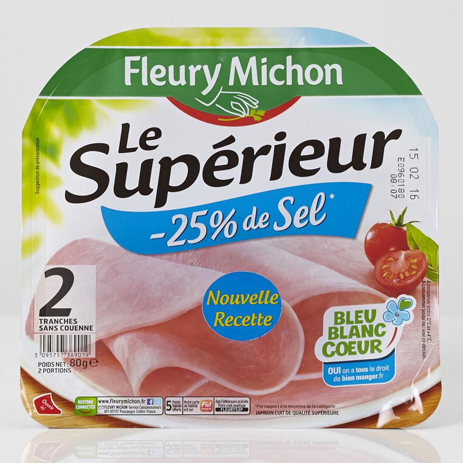 Fleury Michon Le Supérieur -25% de sel -