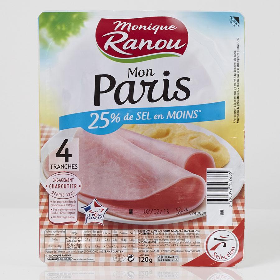 Monique Ranou (Intermarché) Mon Paris 25% de sel en moins -