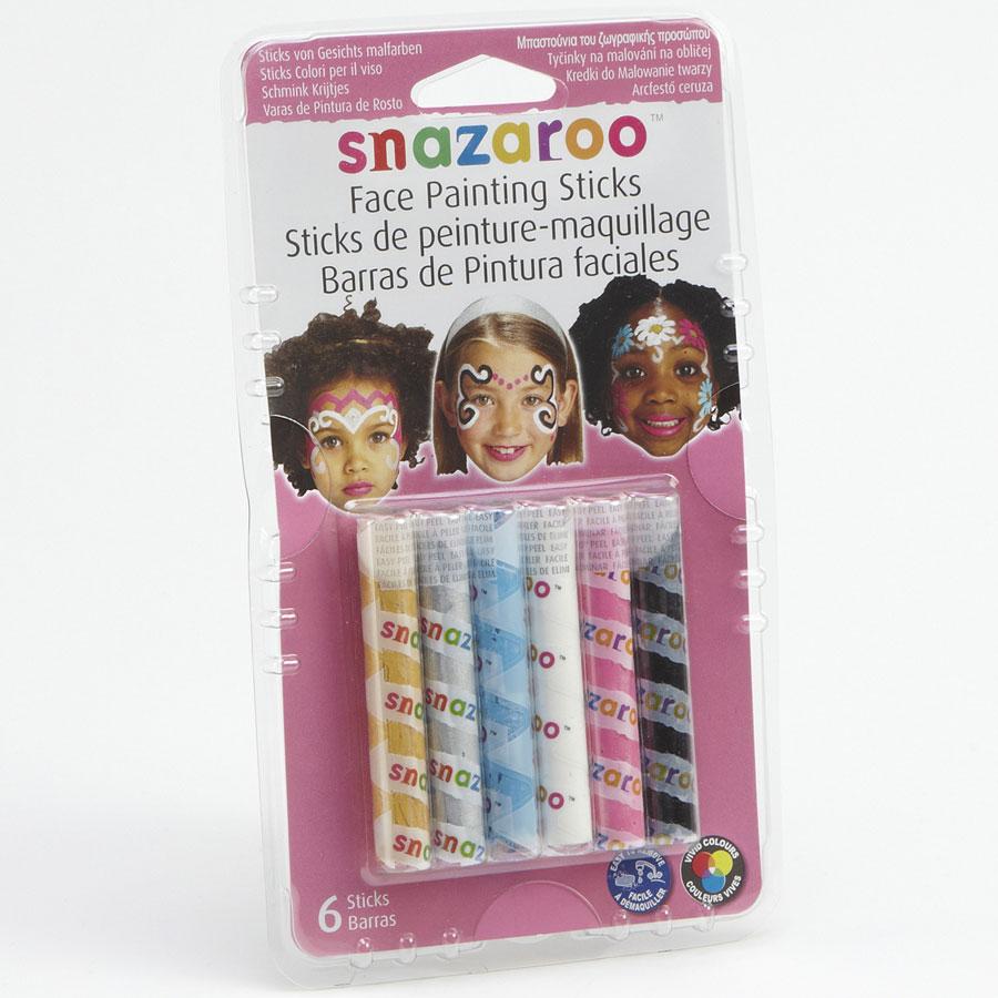 Snazaroo (pour Claire's) 6 sticks de peinture,maquillage -