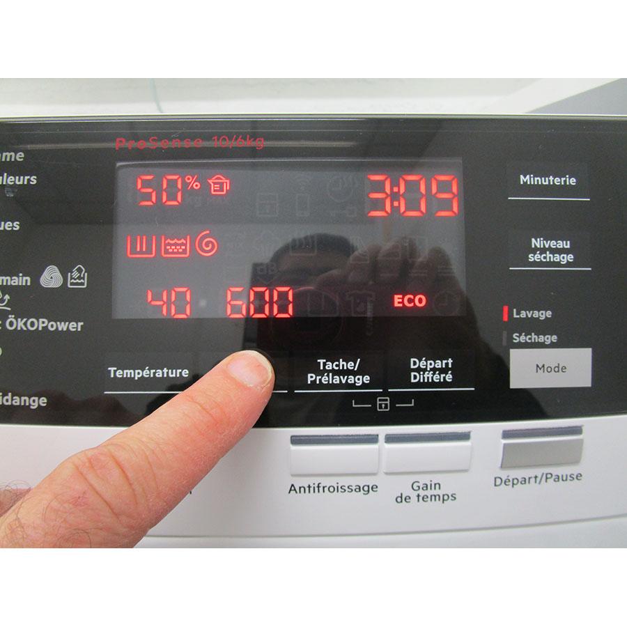 AEG L8WED164C(*12*) - Afficheur et touches d'options