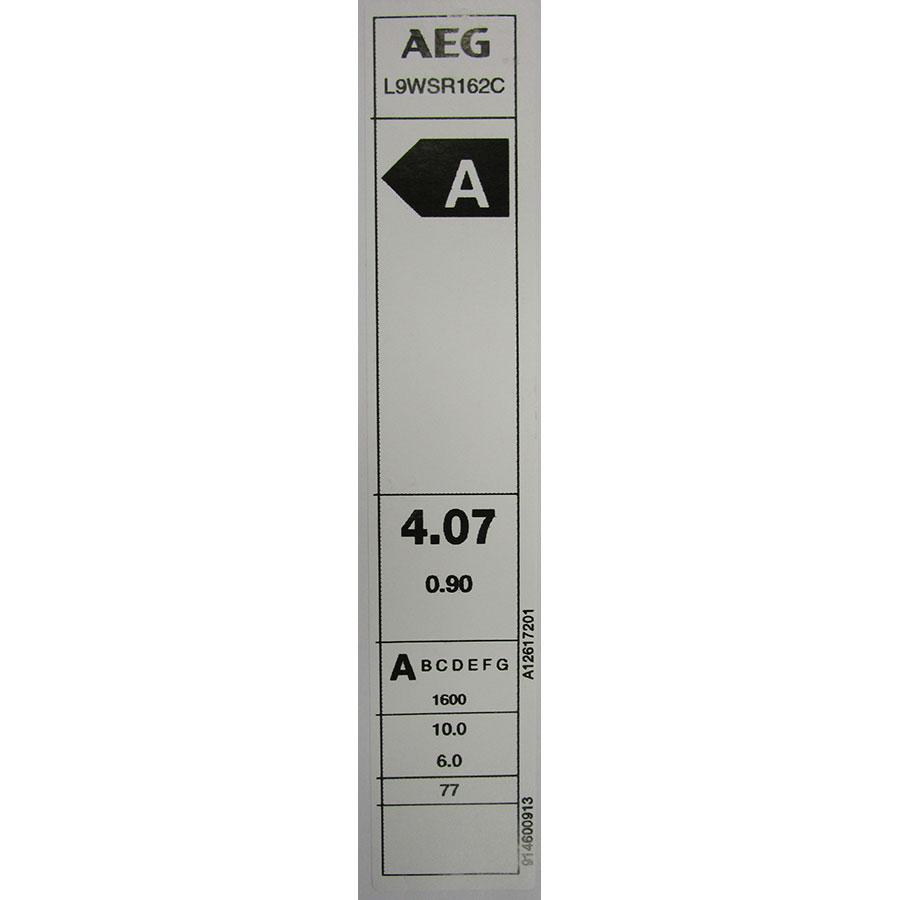 AEG L9WSR162C - Étiquette énergie