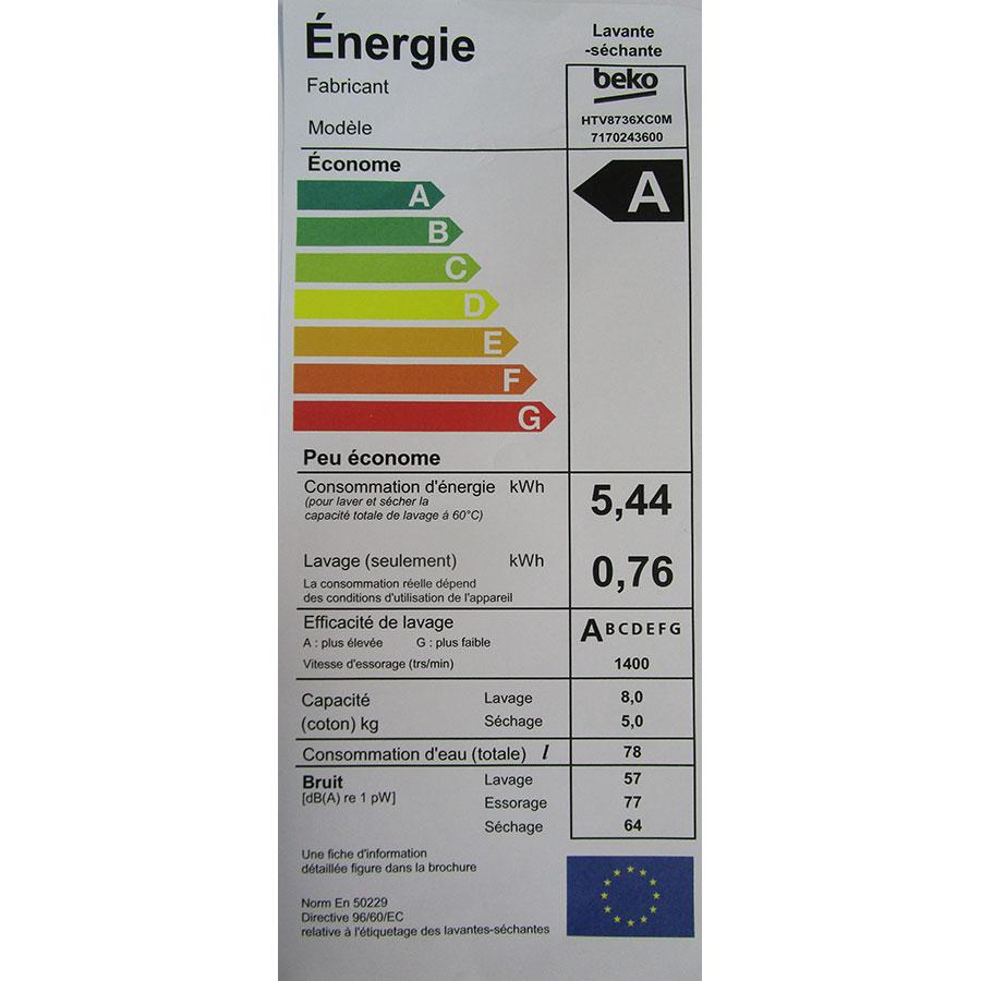 Beko HTV8736XC0M - Étiquette énergie