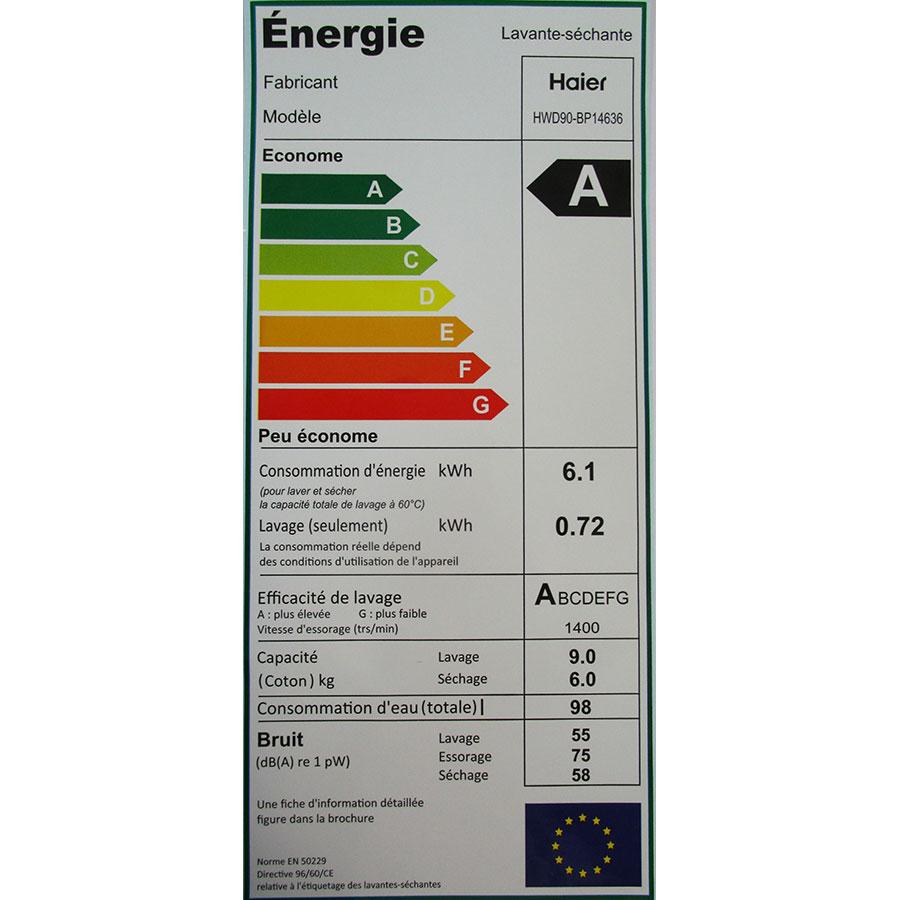 Haier HWD90-BP14636 - Étiquette énergie