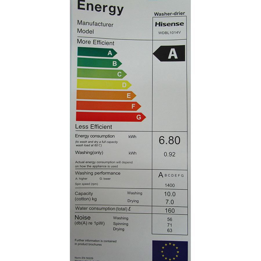 Hisense WDBL1014V - Étiquette énergie