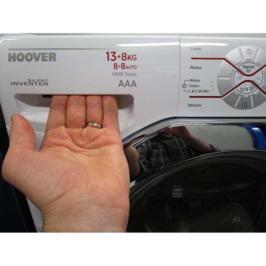 Hoover WDMT4138AH/1(*17*) - Ouverture du tiroir à détergents