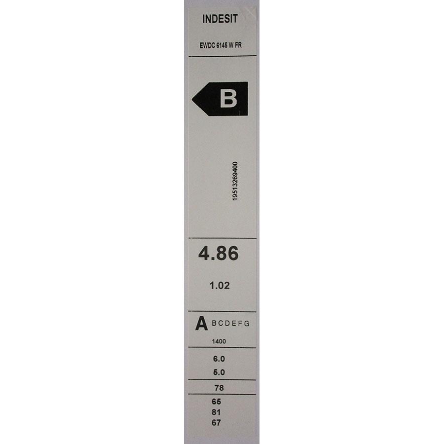 Indesit EWDC6145W FR(*17*) - Étiquette énergie