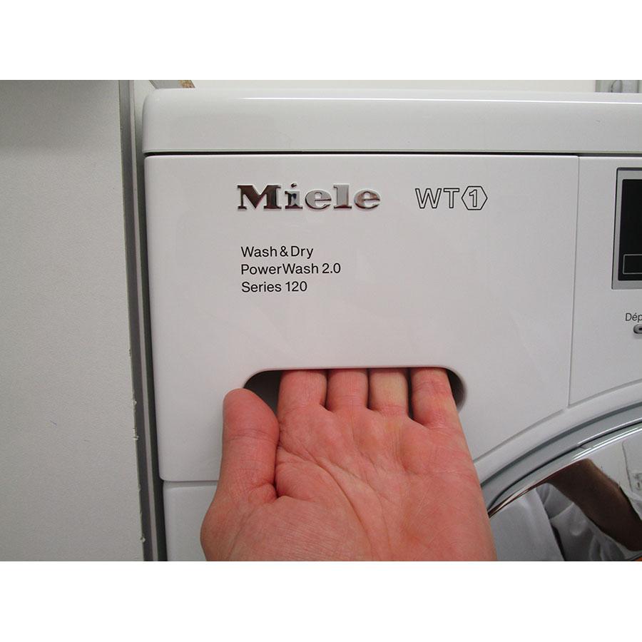 Miele WTF105WCS - Ouverture du tiroir à détergents