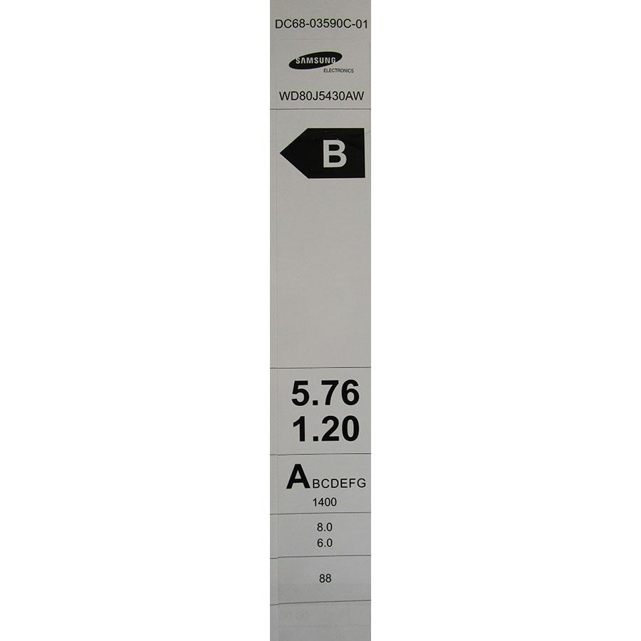 Samsung WD80J5430AW - Étiquette énergie