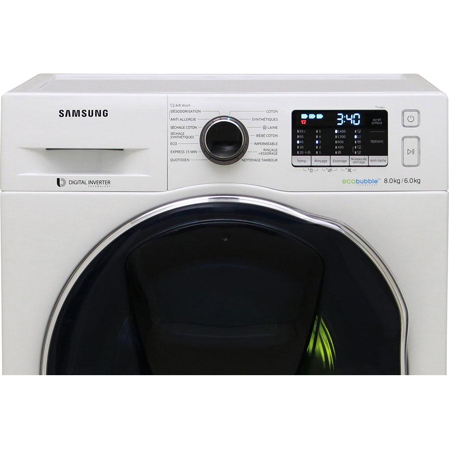 Samsung WD80K5B10OW - Bandeau de commandes