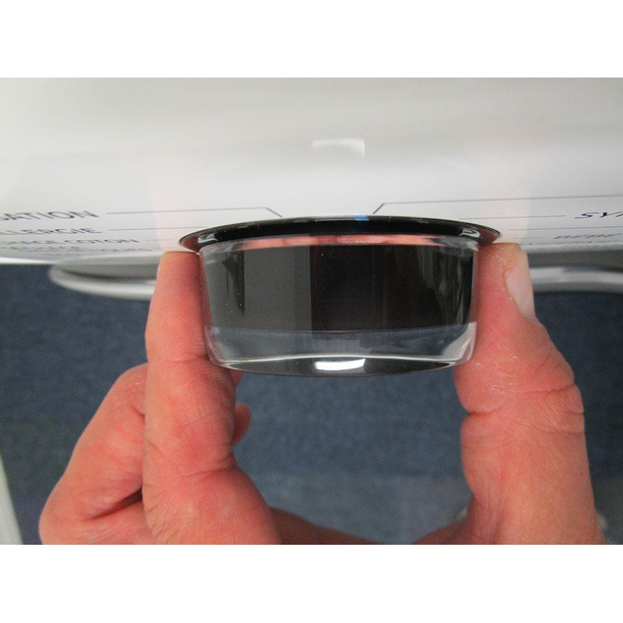 Samsung WD80K5B10OW - Visibilité du sélecteur de programme