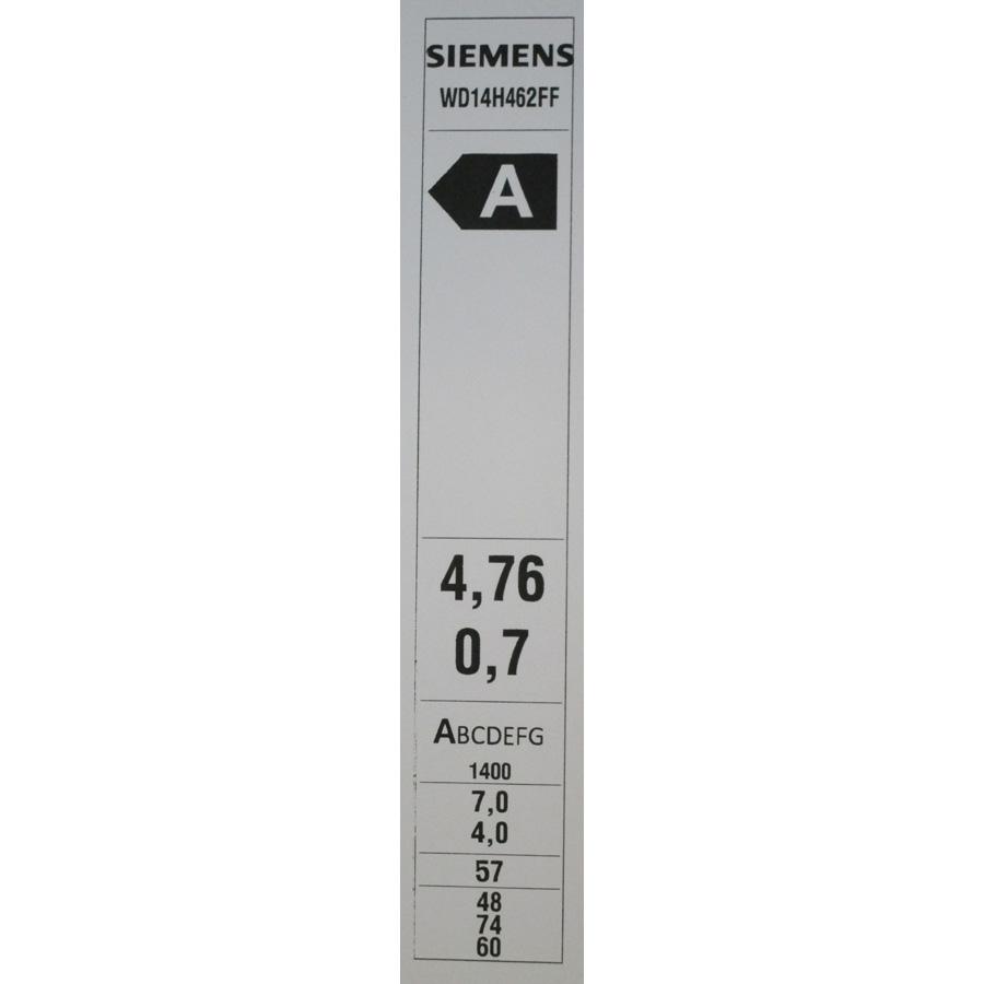 Siemens WD14H462FF(*19*) - Etiquette énergie.