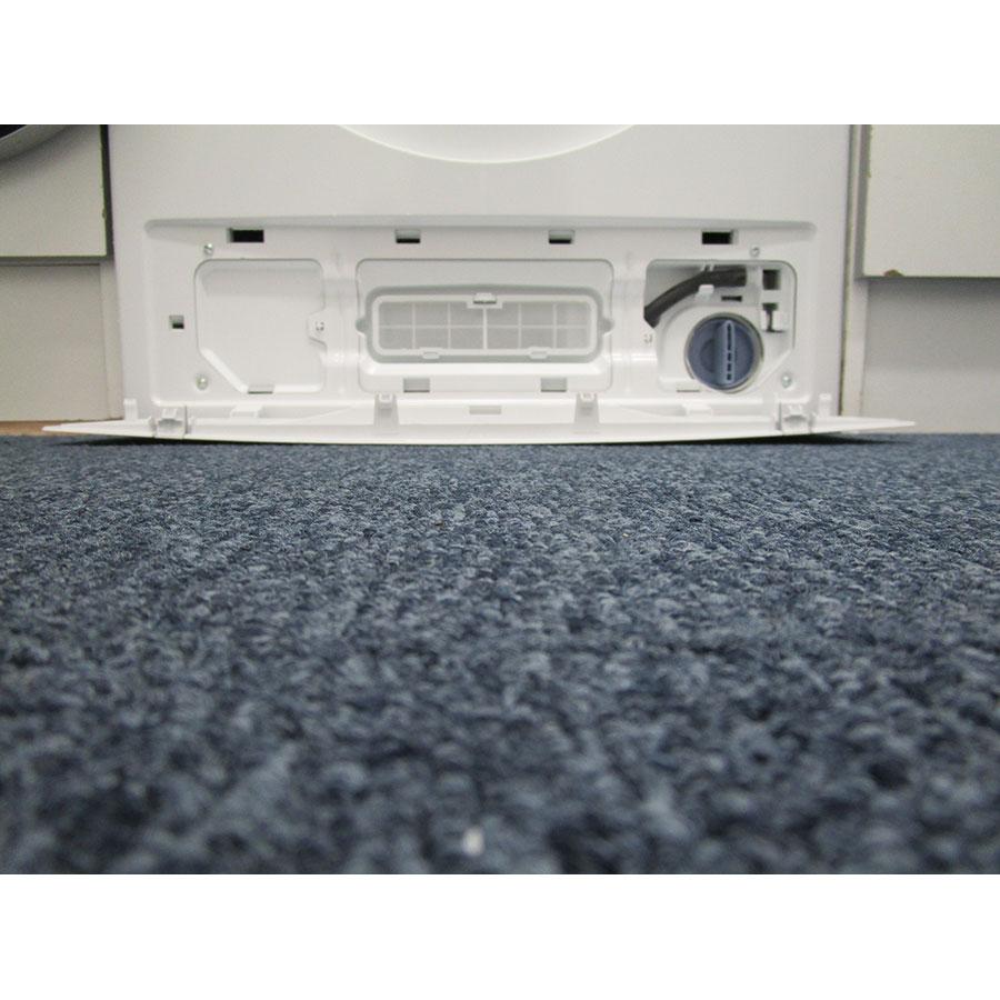 Siemens WD14H464FF - Accès au filtre du sèche-linge et au bouchon du filtre de vidange