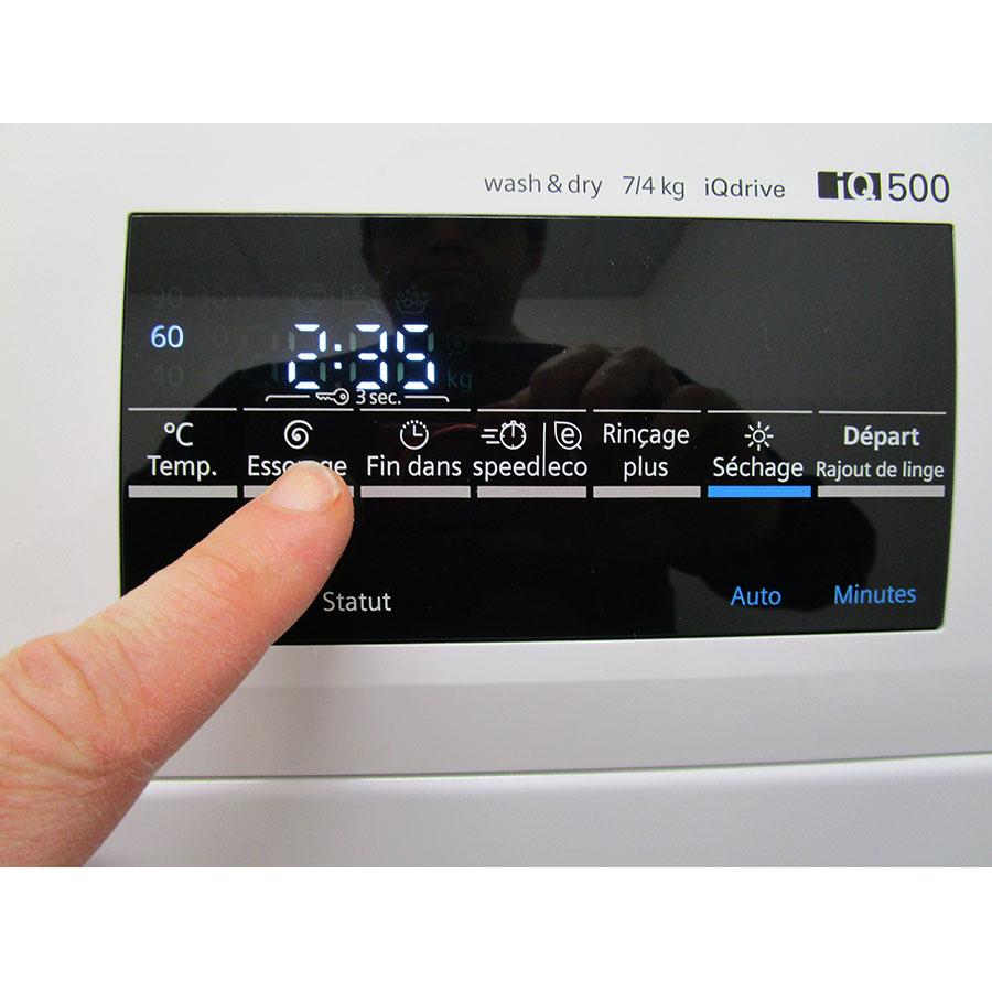 Siemens WD15G462FF - Afficheur et touches d'options
