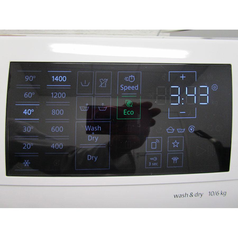 Siemens WD4HU560FF - Afficheur et touches d'options