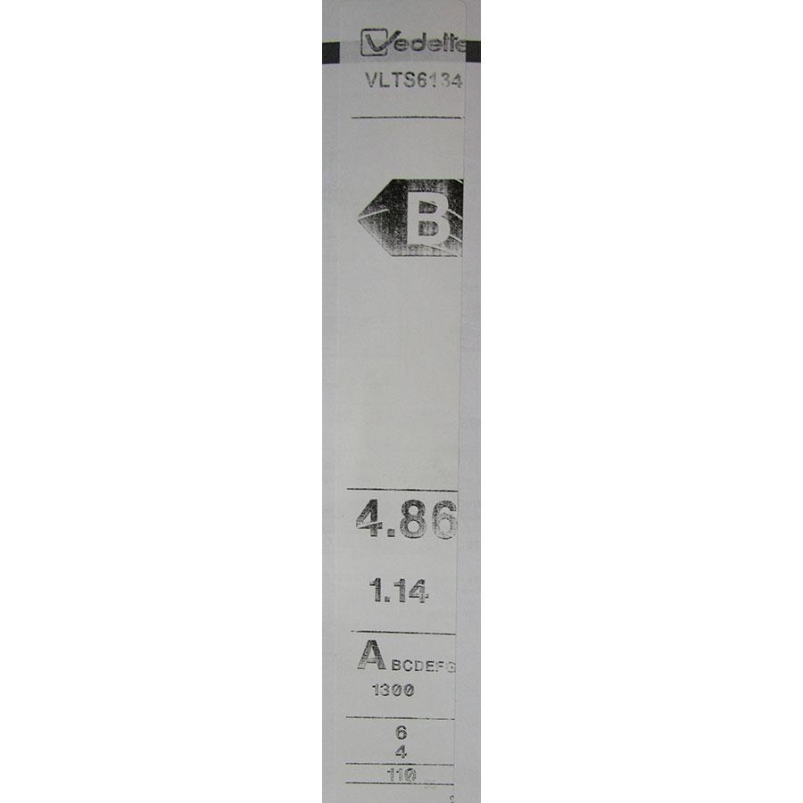 Vedette VLTS6134 - Étiquette énergie