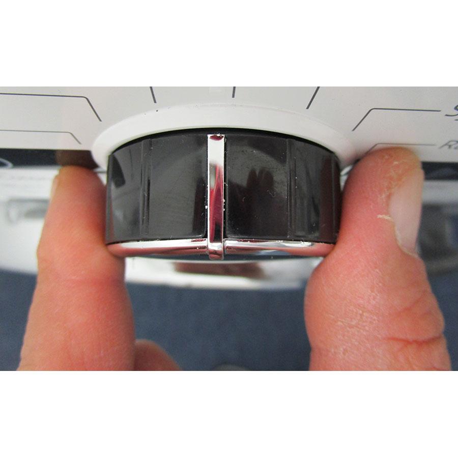 Whirlpool FWDG97168BXFR - Visibilité du sélecteur de programme