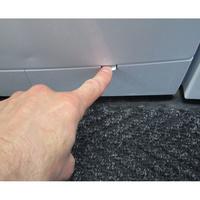 Beko WMB71436 - Ouverture de la trappe du filtre de vidange