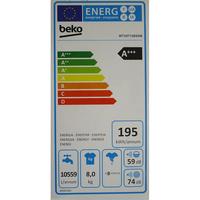 Beko WTV8712BS0W - Étiquette énergie