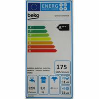Beko WTV8744XWDOS - Étiquette énergie