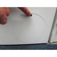 Bosch WAN24200FF - Ouverture de la trappe du filtre de vidange