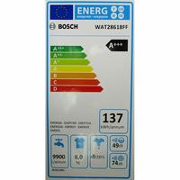 Bosch WAT28618FF i-Dos - Étiquette énergie