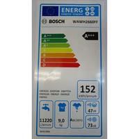 Bosch WAWH2660FF Home Connect Série 8(*34*) - Étiquette énergie