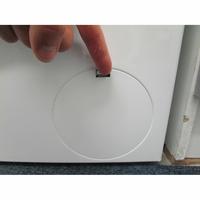 Bosch WUQ24408FF - Ouverture de la trappe du filtre de vidange