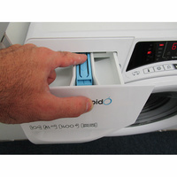 Candy RO14104DXH51-S - Bouton de retrait du bac à produits
