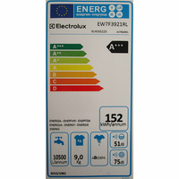 Electrolux EW7F3921RL - Étiquette énergie