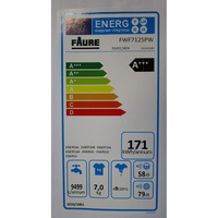 Faure FWF7125PW - Étiquette énergie