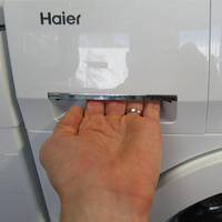 Haier HW70-14636  - Ouverture du tiroir à détergents
