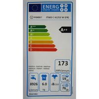 Indesit ITWD C 61252 W - Étiquette énergie