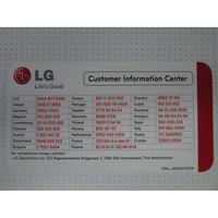 LG F74902WH - Autocollant service consommateurs