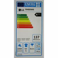 LG F84G62WHS Spa Steam - Étiquette énergie
