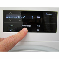 Miele WWE860WPS AllWater - Touches d'option