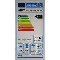 Samsung QuickDrive WW80M645OCW(*10*) - Étiquette énergie