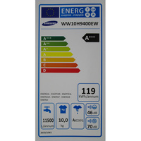 Samsung WW10H9400EW Crystal Blue WW9000 - Étiquette énergie