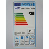 Samsung WW10M86GNOA - Étiquette énergie