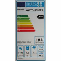 Samsung WW70J5355FX - Étiquette énergie