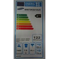 Samsung WW70K5410UX - Étiquette énergie