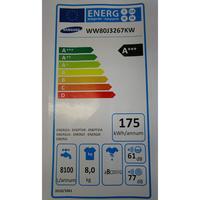 Samsung WW80J3267KW - Étiquette énergie