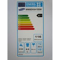 Samsung WW8EK6415SW Add wash - Étiquette énergie