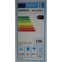 Siemens WM12K260FF iQ300 (*14*) - Étiquette énergie