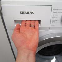 Siemens WM14N120FF - Ouverture du tiroir à détergents