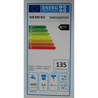 Siemens WM14Q472FF iQ500 (*12*) - Étiquette énergie